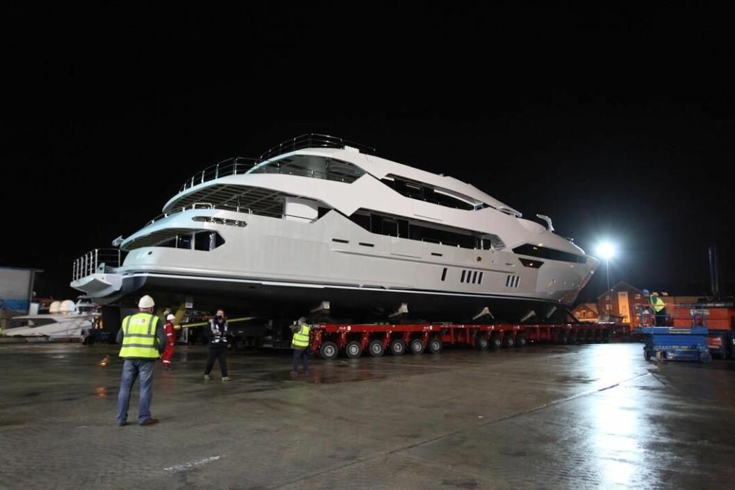 RUVER: Med sine 155 fot er det ingen liten båt Sunseeker har produsert.