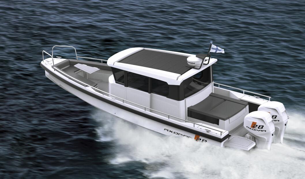 AXOPAR AC har totalt fore køyeplasser, samt bysse og toalett ombord.