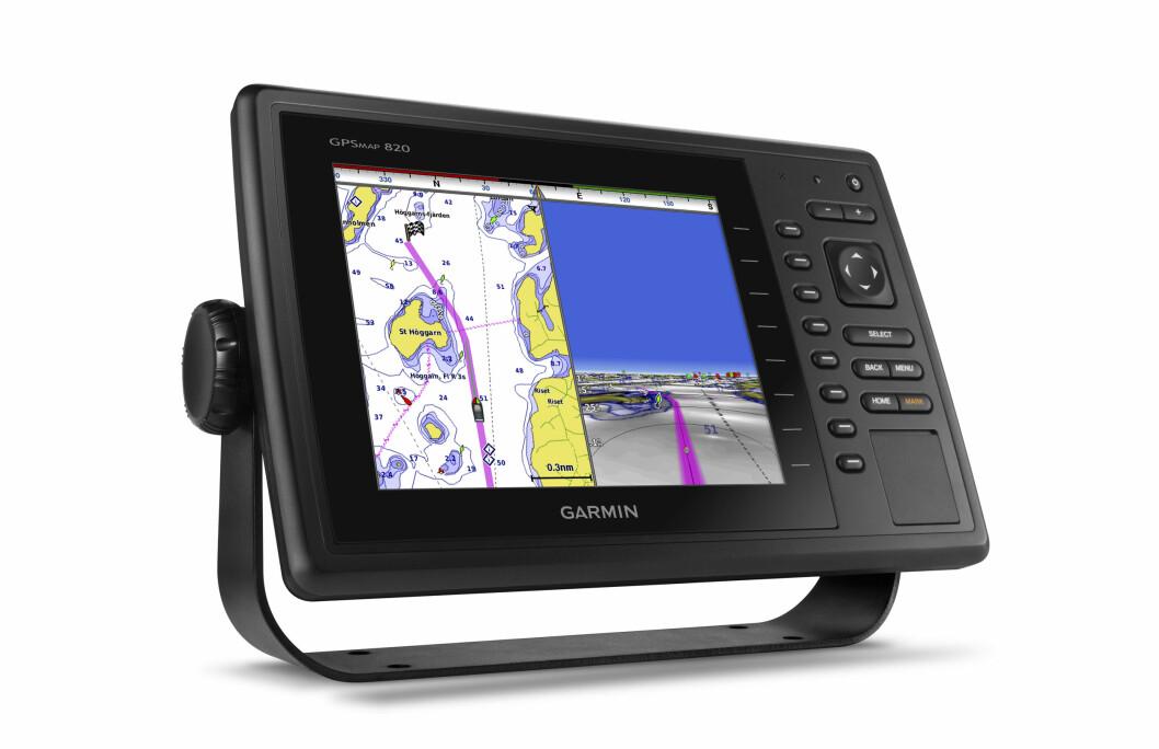 NYHET: Garmin lanserte denn uken to nye kartplottere under utstyrsmessa METS i Amsterdam. Dette er GPSMAP 820. Det kommer også en 10-tommers modell.