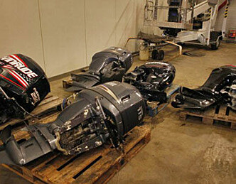 Pass på båtmotoren