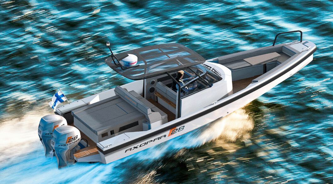 NYTT MERKE: Axopar 28 T-top er første av tre modeller som kommer fra det nye finske merket.