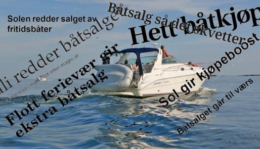 Knallsommer for båtsalg