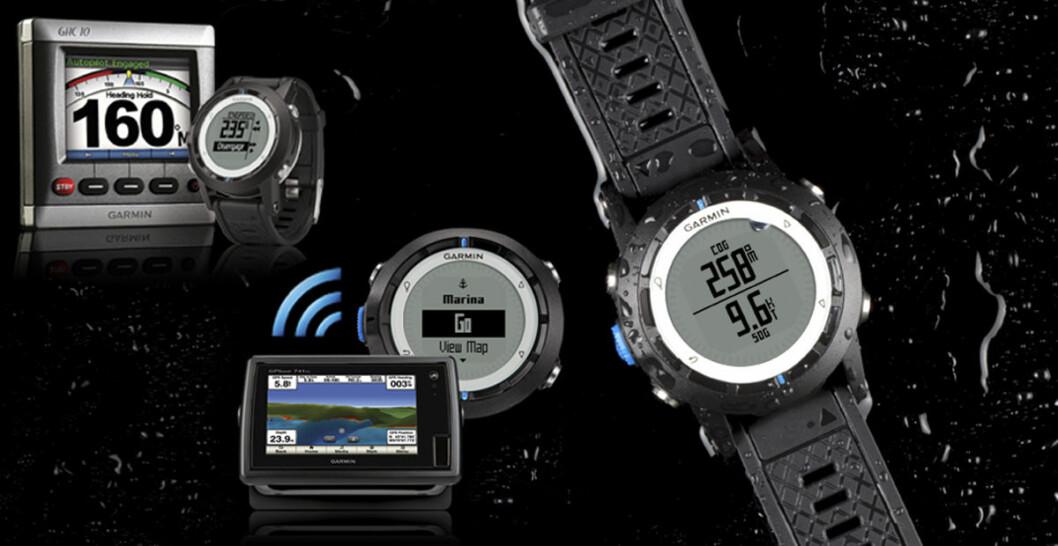 Garmin quatix lar deg styre din Garmin autopilot rett fra håndleddet.