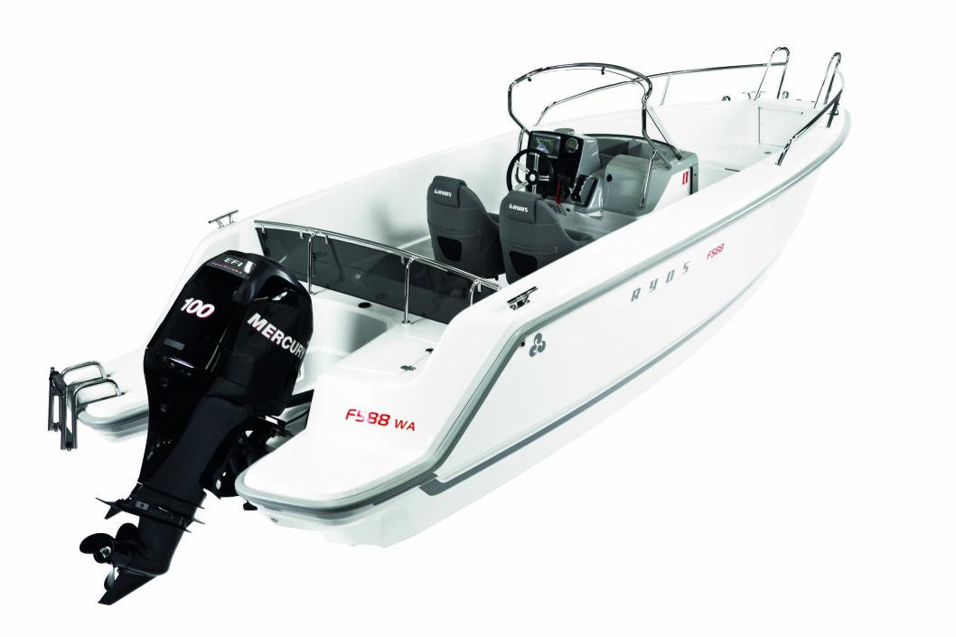 STRUKKET: Dette er Ryds F588 WA - en av tre 19-fots modeller basert på konseptet fra F528.