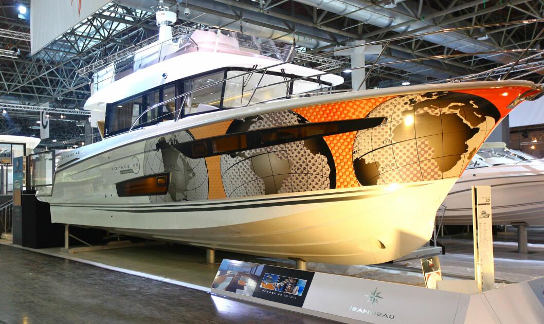 MEKTIG: Jeanneau Voyage 42 ble vist frem under Boot i Düsseldorf. Produksjonen starter i mai.