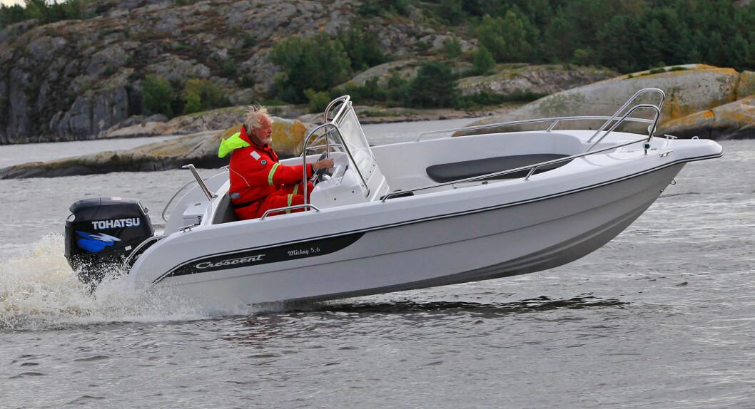 Crescent Mickey er bred og solid - og burde fungere bra som fraktebåt på hytta.