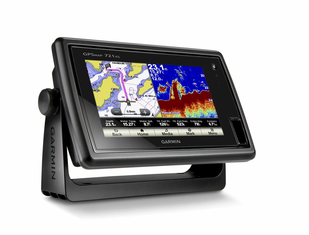 Garmin GPSmap 721xs har innebygget ekkoloddmodul, Wi-Fi og bluetooth. Nyheten kommer på markedet i første kvartal neste år.