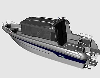 ...og en splitter ny styrhusbåt