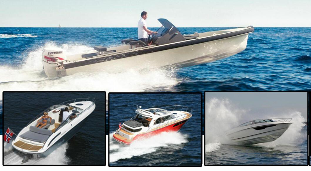 NOMINERTE: Goldfish, Oceanmaster, Windy og Marex er alle nominert til pris i London. Det er også Flipper 760 som er tegnet av norske Espen Thorup.