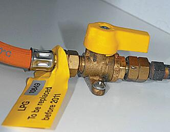 Sjekk gassanlegget før båtturen