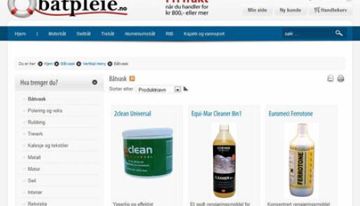 Ny nettbutikk for båtpleieprodukter