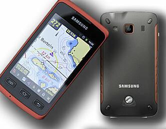 Vanntett touchtelefon med sjøkart