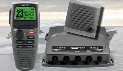 Garmin med trådløst VHF-håndsett