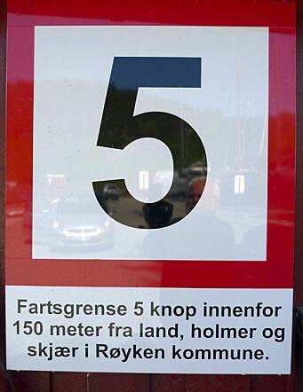 I dag er det lokale fartsgrenser.