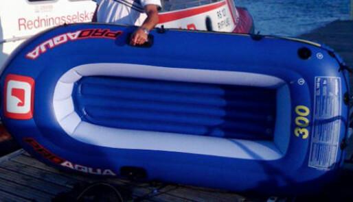 På fisketur i lekebåt