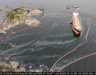 Oljesøl forflytter seg sørover