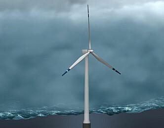 Verdens første flytende vindmølle