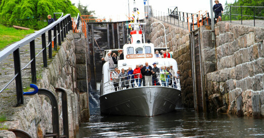 Yrende båtliv på Telemarkskanalen