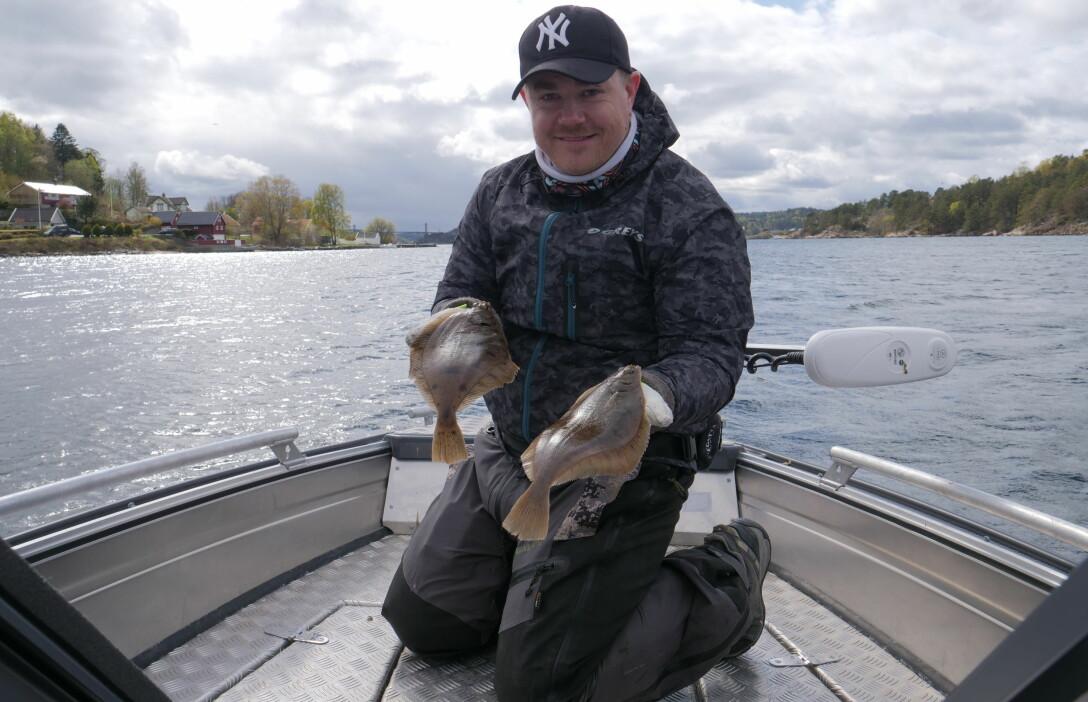 ANBEFALER FISKEPLASSER: Tommy Egra har anbefalt flere av fiskeplassene i appen FiskHer.