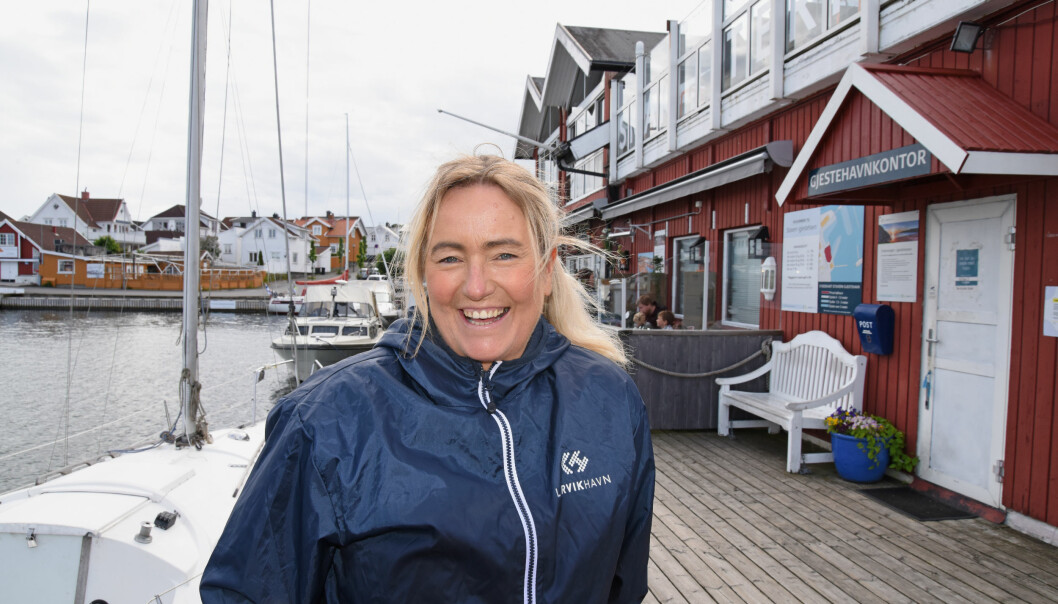 FORBEREDT: Daglig leder Inger Kristine Grønvold i Stavern gjestehavn er forberedt på en sommer med mye trafikk og smittevernstiltak.