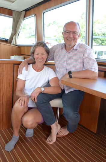 FAMILIETUR: Anette Gjessing med Harald Korn. Yngstesønnen Leo er også med på turen.: