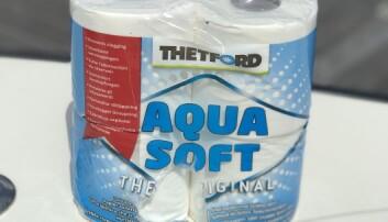 VIKTIG: Bruk spesialpapir som løser seg opp i vann. Det reduserer faren for tilstopping av systemet.