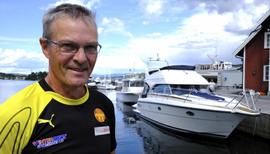 FORNØYD: Etter tre dager på finn.no var båten til Ulf Grøndahl fra Tromsø solgt til ny eier.