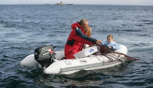 Garnfiske fra jolla krydrer livet i naturhavn