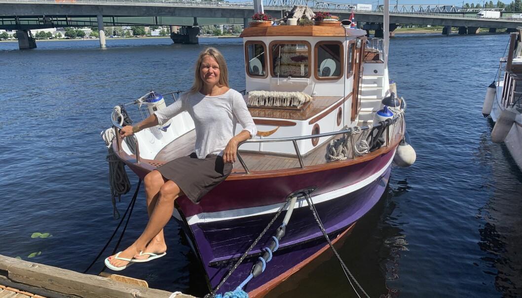 SKIPPER OG REDER: Anne Katrine Rockstad på M/S Teddy.