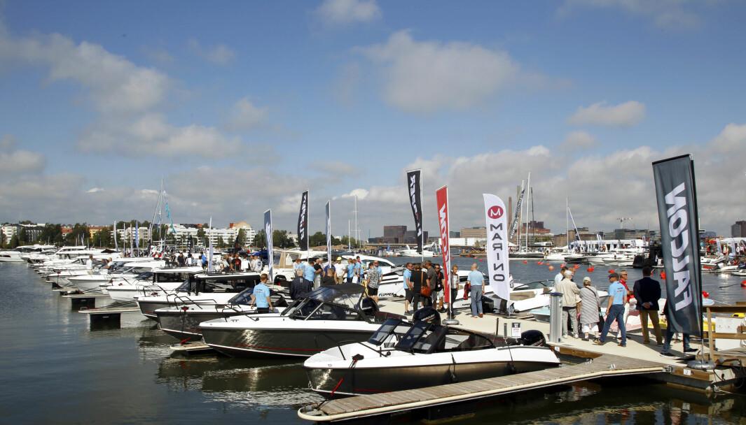 GODT SALG: Helsinki flytende båtutstilling i august.