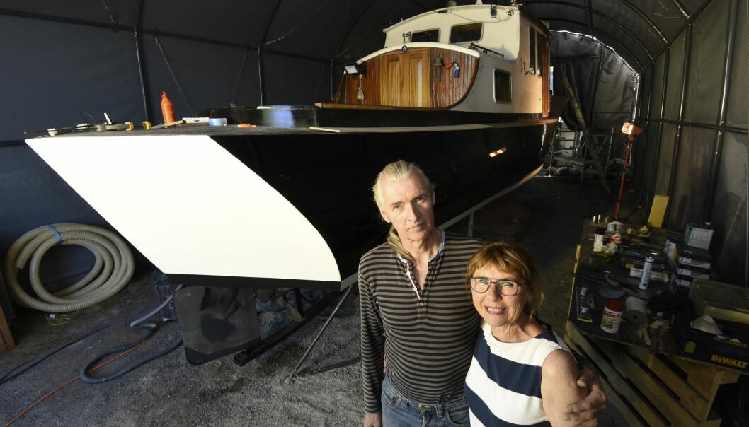 OMBYGD: For Thomas Bell og Cecilie Heramb har den langsomme reisen gjennom Europa blitt et livsprosjekt.