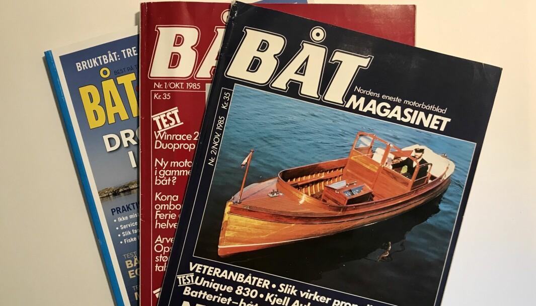 UTVIKLING: I oktober 2020 er det nøyaktig 35 år siden den første utgivelsen av Båtmagasinet. (FOTO: ATLE KNUTSEN)