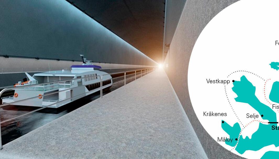 AMBISIØST: Både næringslivet på nordvestlandet og lokalpolitikere har i flere tiår jobbet for å få bygget en 1700 meter lang tunnel ved foten av Stadlandet.