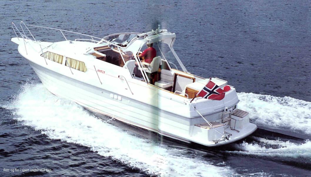 FRA ARKIVET: Bilde scannet fra Praktisk Båtliv nummer 8 2000, og her er Inter 9000 Norline prøvekjørt..