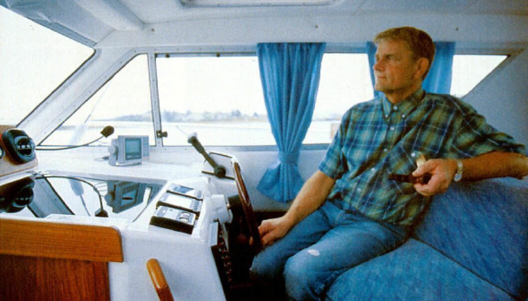 FRA ARKIVET: Hans Borgersen med sin Tristan 315 Sedan i Praktisk Båtliv 10 1997.
