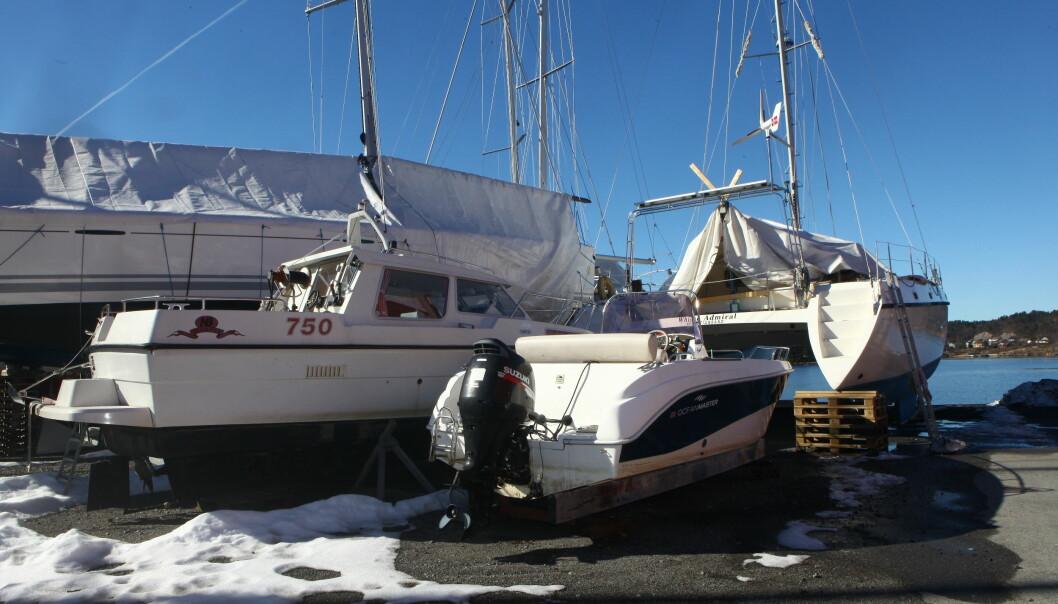VINTEROPPLAG: En god kaskoforsikring dekker skader som måtte oppstå under vinterlagring. Det er ikke krav til vintervakthold, men du må føre tilsyn med egen båt. Foto: Atle Knutsen.
