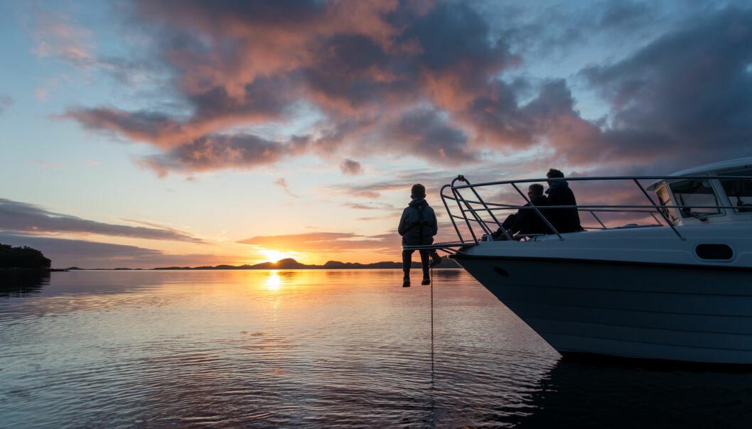 FERIEIDYLL: Jan Helge Thomassen og familien har fått oppleve Norge på sitt beste.