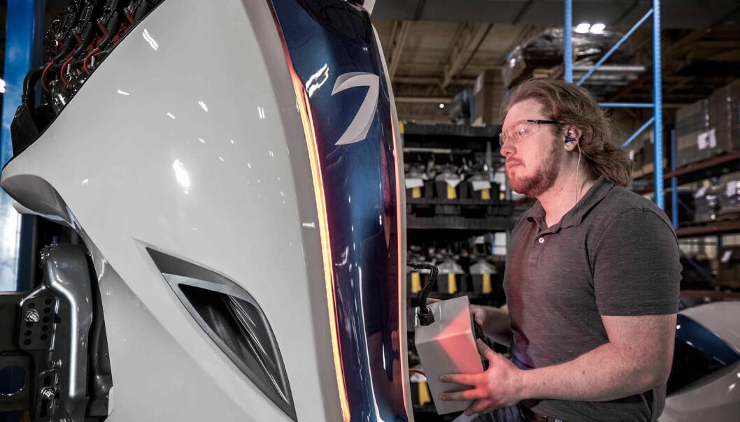 SLUTT: Et drøyt halvår etter at Volvo Penta kunngjorde at produksjonen av Seven Marine-motorene var i gang, legges den ned. (FOTO: SEVEN MARINE)