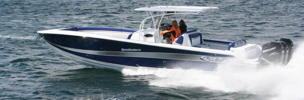 OVERRASKET: USA-baserte Nor-Tech, som drives av nordmennene Trond Schau og Nils Johnsen, har levert noen båter med Seven Marine-installasjoner. (ARKIVFOTO: ATLE KNUTSEN)