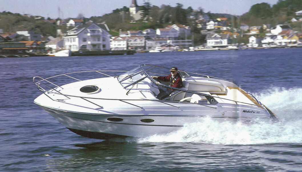 FRA ARKIVET: Nidelv 725 Sport ble testet i Praktisk Båtliv 6 2001.