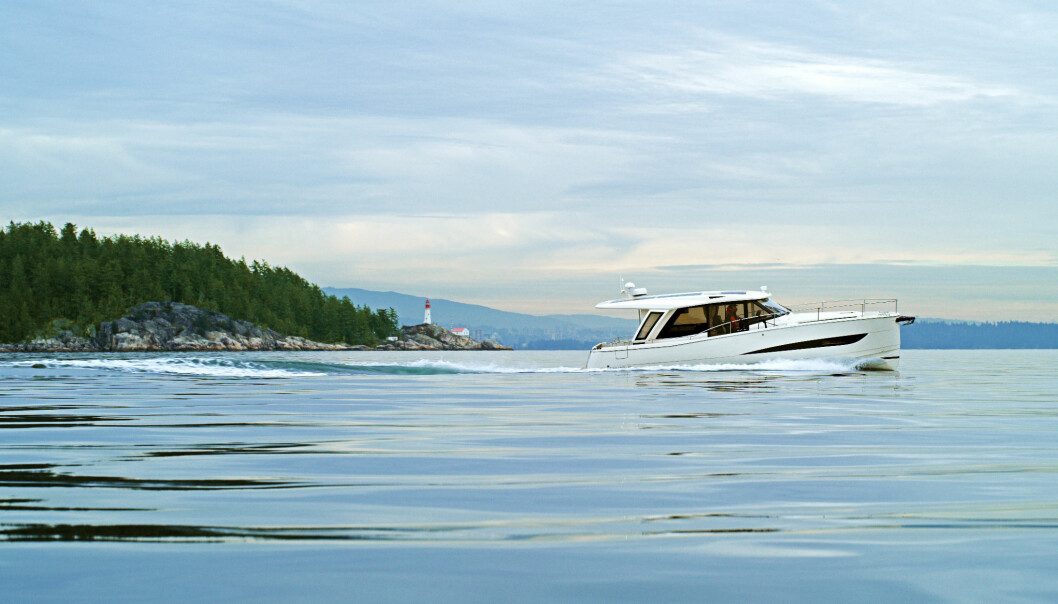 EL: Greenline leverer helelektriske cabincruisere, og seks kommer til Telemark til sommeren. Bildet viser Greenline 39