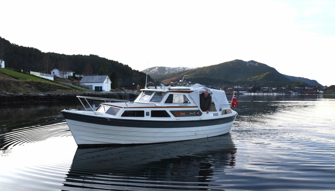 FRISTED: Rune Midtkandal jobber med hurtigbåter i det daglige. I «Nada» - eller «ingenting» på spansk – søker han båtlivet i sakte fart.