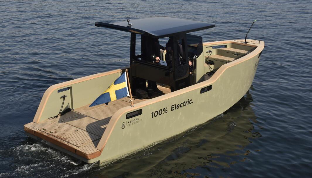 NY GENERASJON: Den nye generasjonen Eelex 8000 fra svenske X Shore er en betydelig forbedring. T-toppen på den nye versjonen er laget i karbonfiber.
