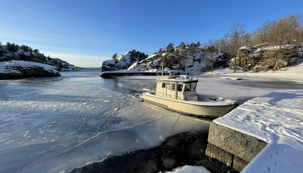 TARGA PÅ IS: Vi startet året sesongen i isråk, med bålpanne og dieselvarmer.