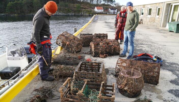 RESULTATER: Disse redskapene ble plukket opp på et par timers arbeid. Foto: Liv Eva Kirkesæther/Havforskningsinstituttet
