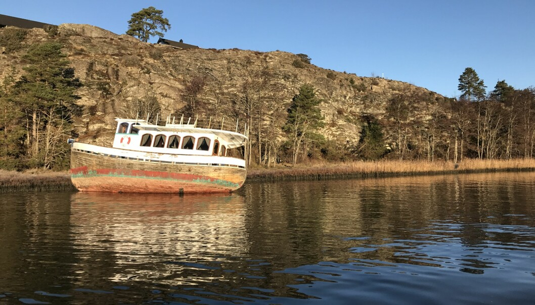 HENSLENGT: Små og store båter ute registrering blir ofte et kommunalt avfallsproblem.