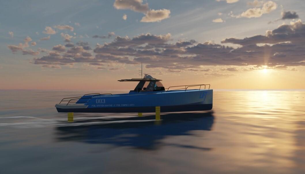 FLYR PÅ FOIL: Inspirert av seilbåter i Amarica's cup som kommer opp i 50 knop med seil, vil norske Ocean Lift lage elbåt med god rekkevidde.