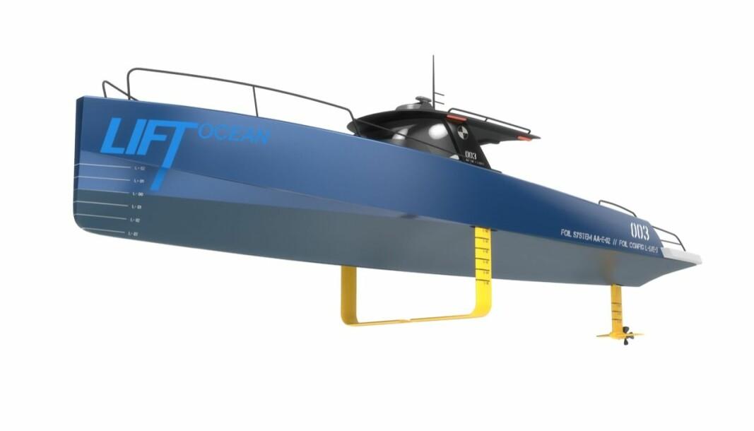 HYDROFOIL: Slik ser hydrofoil-løsningen til Lift Ocean ut.