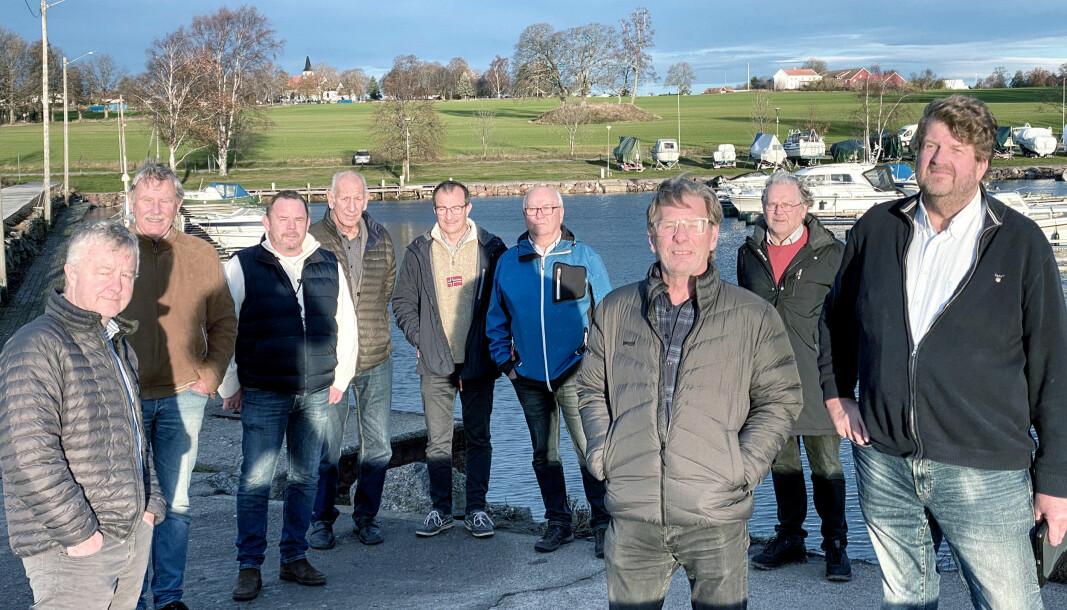STEINBRYGGA BÅTFORENING: Nærmeste nabo er Borre Kirke (i bakgrunnen), og medlemmene i Steinbrygga Båtforening ved Horten er lite fornøyd med prisøkningen de siste årene.