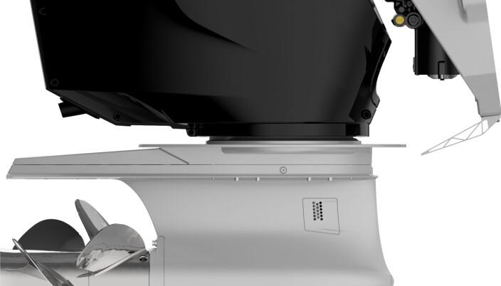 DUOPROP: 600 Verado har kontraroterende propeller i likhet med Suzukis toppmodell.